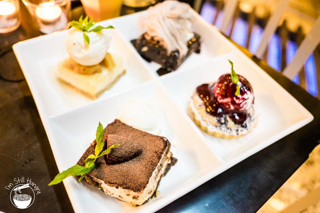 Blackbird cafe dessert tasting plate