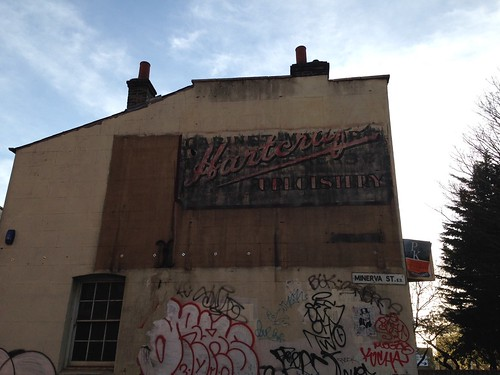 Ghost sign, Minerva Street, London E2