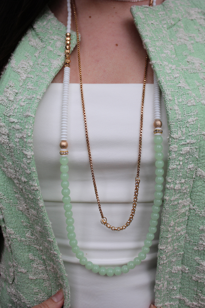fashion, fashion blog, fashion blogger, Paris, streetstyle, necklace, green, green tweed