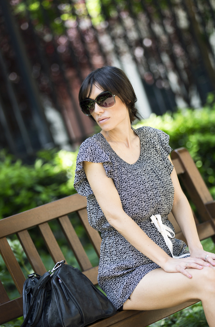 street style barbara crespo top with ruffle sleeve the corner fashion blogger outfit blog de moda