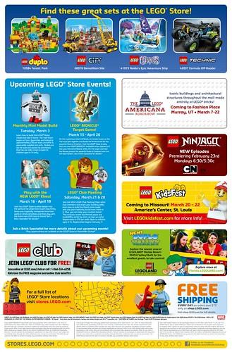 LEGO March 2015 Store Calendar