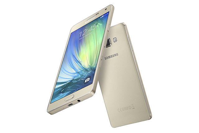 Samsung Galaxy A7 in Champagne Gold