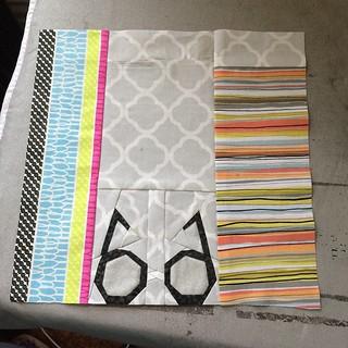 Week 4 for my daughter's quilt! #POD #projectofdoom #projectofdoom2015 #harrypotter