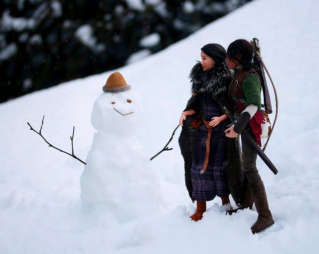 A Skyrim Snowman