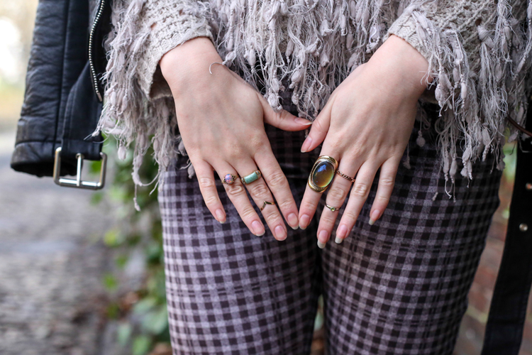 mood ring, opal vintage ring, midi ring