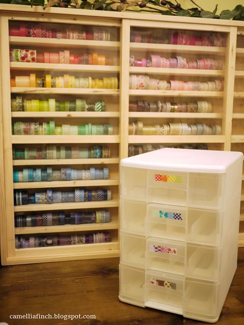 washi tape cabinet 頑木工坊紙膠帶櫃