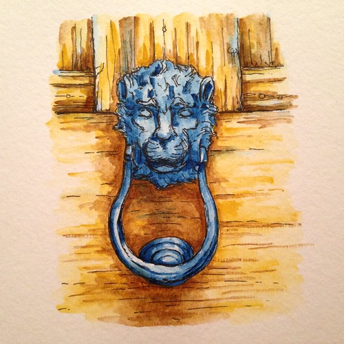 Watercolor door knocker
