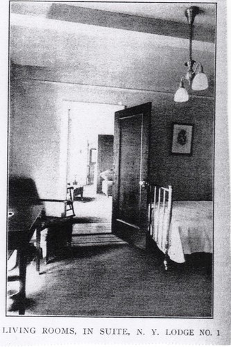 (Undated) Guest Room at Elks Lodge #1 (aka Hotel Diplomat), NYC, NY
