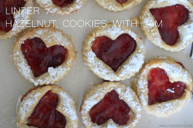 Linzer cookies by little luxury list
