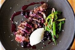 20150201-41-Hanger steak with blueberry sauce and…