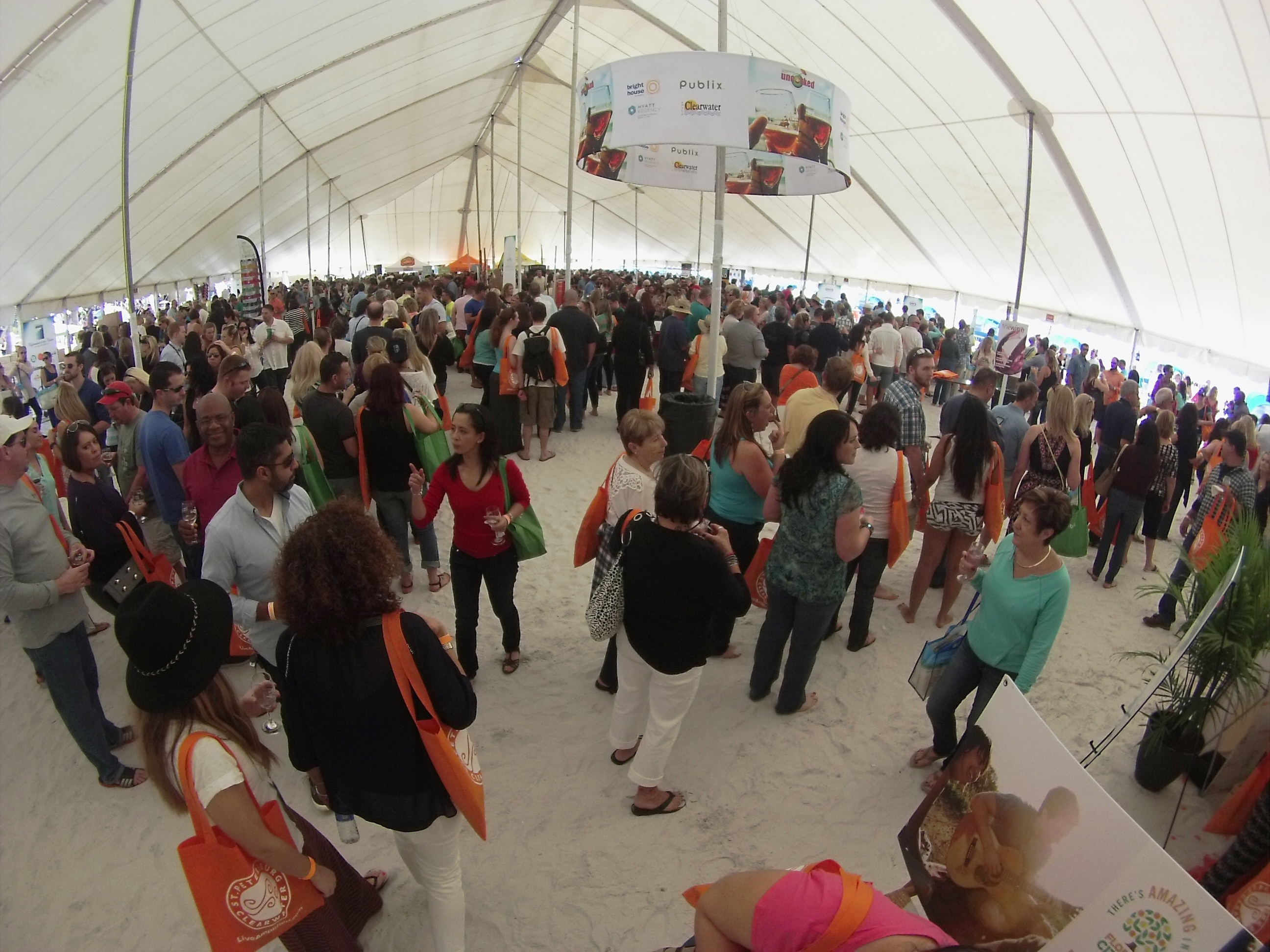 Clearwater Beach Uncorked, Food, Wine & Beer Festival. Clearwater Beach, Florida, Feb. 7, 2015