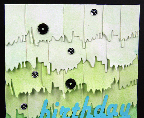Green Monochromatic Watercolor Die Cut Card | shirley shirley bo birley Blog