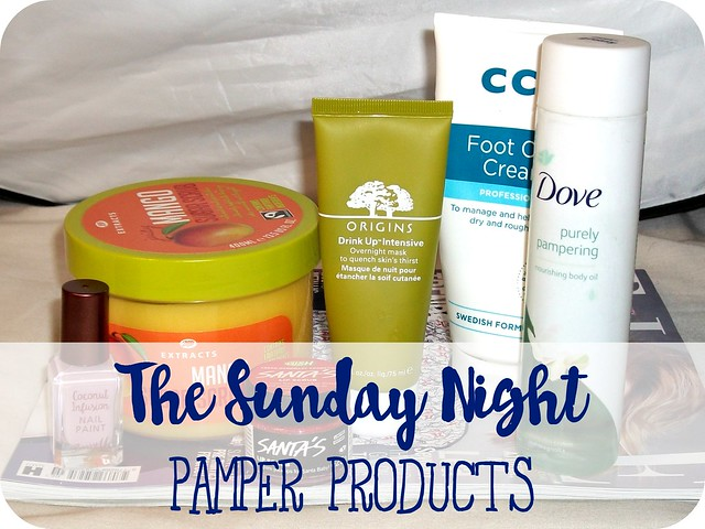 The Sunday Night Pamper Session Products