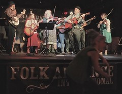 Photo Bombed by a Crazy Dancer Lady at the Folk Alliance John Hartford Tribute
