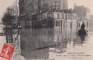 Crue de la Seine. Paris - Quai de la Rapée et Boulevard Diderot. Le 29 Janvier 1910 (29 January 1910)