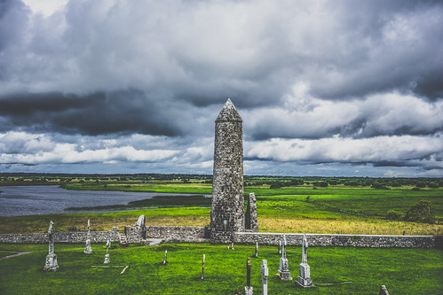 world ireland irish green tower history church cemetery graveyard stone architecture clouds zeiss river landscape ancient scenery europe european earth sony scenic churches historic round land limestone greenery za sonya7