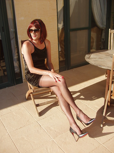 Minidress in the sun