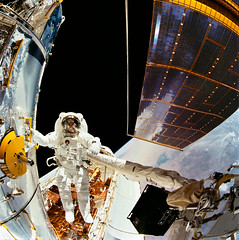 Astronaut F. Story Musgrave during First Hubble Servicing Spacewalk