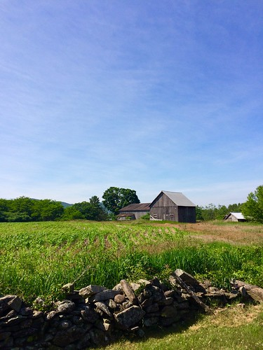 blue summer sky stone wall clouds barn corn afternoon farm cirrus farmstead projectweathersubmission