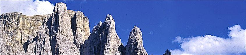 Dolomiten. Kletterparadies Sellatürme. Foto: Günther Härter.
