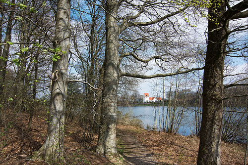 lake church sunshine forest landscape denmark spring nikon d7100 tokina1116mmf28atx nikond7100