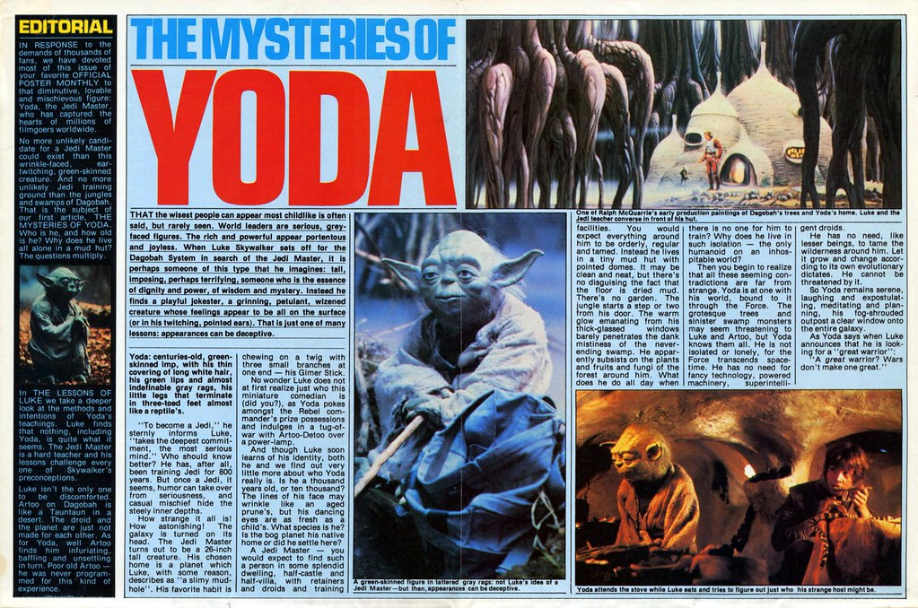 star wars empire strikes back poster magazine issue 3 yoda 1980