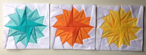 Paper pieced pompom row