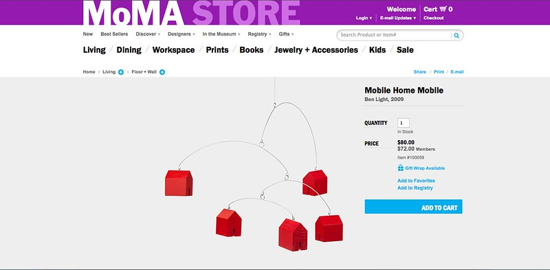 Mobile Homes at MoMA Design Store