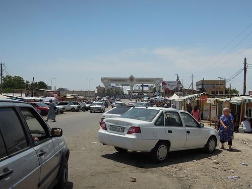 カザフスタン側の国境