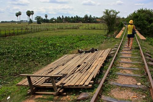 "a dismantled ""bamboo"" train car"
