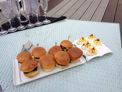 Chicken Sliders & Deviled Eggs at Estate Ultra Bar