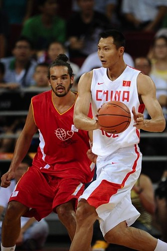 July 1st, 2013 - Joakim Noah plays defense in the Yao Foundation charity game in Beijing