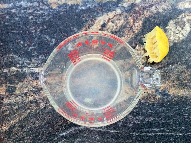 Lemon Juice Water in Measuring Cup