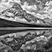 Mount Chephren - Tribute to Ansel by Jeff Clow
