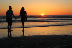 Sunset at Ocean Shores, WA