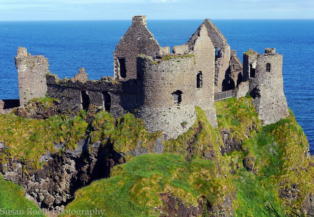 Dunluce Castle on the North Antrim Coast of Ireland