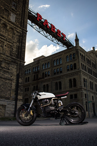 Wrench Tech Racing's 1982 CM450 Modern Cafe Conversion at the old Pabts Brewery in Milwaukee by krum04