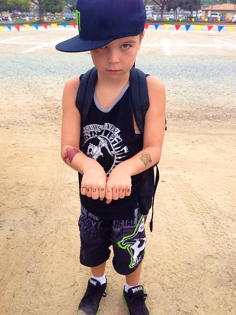 Thug Life. Costume Day at Summer Camp.