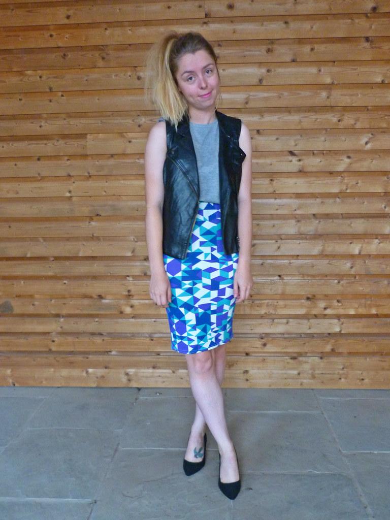 Karma clothing   Geometric skirt