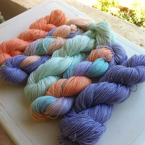 My #handdyed #yarn is ready. #knitting #crochet