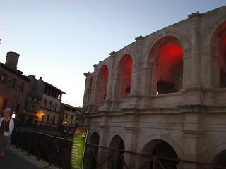112 eten in Arles bij de arena