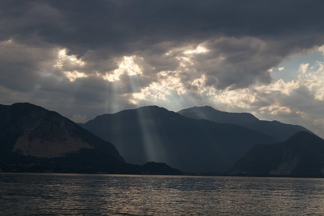 Evening Rays over Lake Maggiore