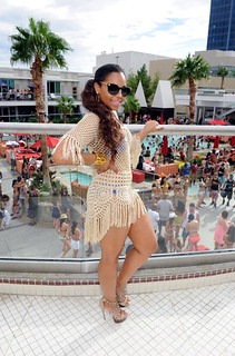Dimepiece Ashanti , TI, DJ Clue , LL Cool J , at a pool party in Vegas