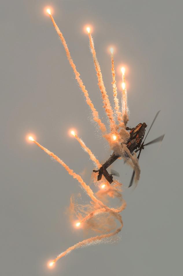 RNLAF AH-64D Apache Demo Team Sanicole Airshow