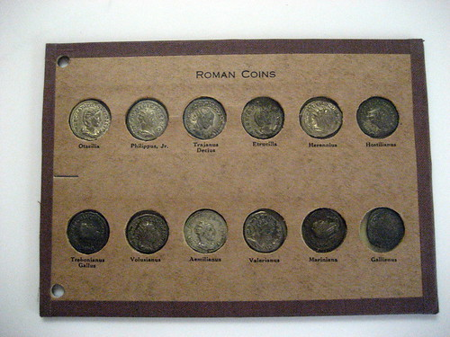 Roman coins in holder 2