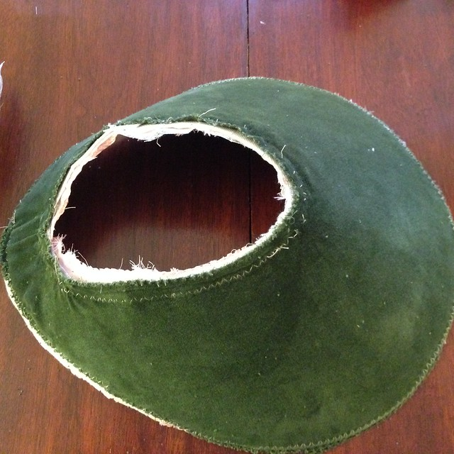 Sew bottom and top edges of upper brim