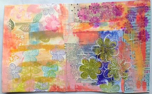 Small Art Journal Series-Inside Cover before binding