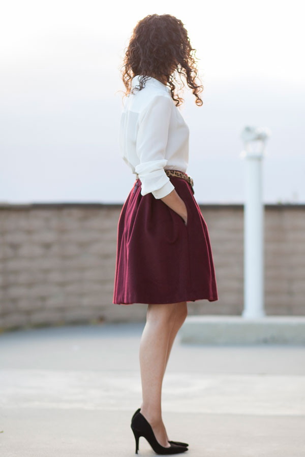 fall-burgundy-skirt-catherine-malandrino-san diego-fashion blogger