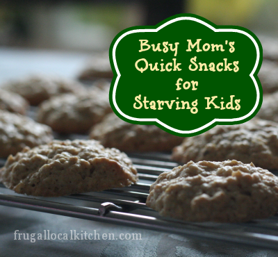 Busy Mom's Quick Snacks for Starving Kids