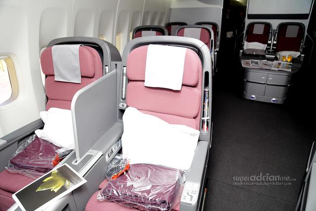 Qantas International Business Class on Boeing 747-400 Aircraft
